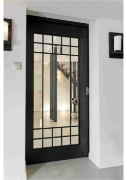 Drzwi metal - drewno, art deco