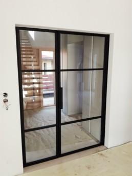 drzwi stalowe, przeszklone, ścianki szklane