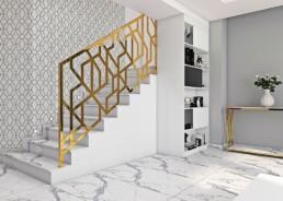 balustrady złote art deco, glamour, premium
